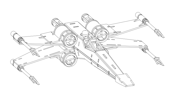 Mx Wing Fighter Star Wars Coloring Page Coloring Pages